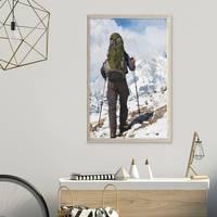 Vintage Bilderrahmen Shabby-Chic Weiss 40x60 cm Massivholz mit Glasscheibe und Zubehör / Fotorahmen / Portraitrahmen  – Bild 5