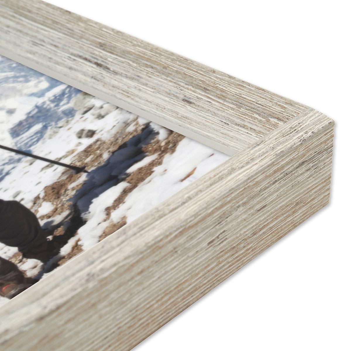 vintage bilderrahmen shabby chic weiss 60x80 cm massivholz mit acrylglasscheibe und zubeh r. Black Bedroom Furniture Sets. Home Design Ideas