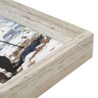 3er Set Vintage Bilderrahmen Shabby-Chic Weiss 18x24 cm Massivholz mit Glasscheibe und Zubehör / Fotorahmen / Portraitrahmen  – Bild 5