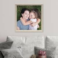 3er Set Vintage Bilderrahmen Shabby-Chic Weiss 30x30 cm Massivholz mit Glasscheibe und Zubehör / Fotorahmen / Portraitrahmen  – Bild 2