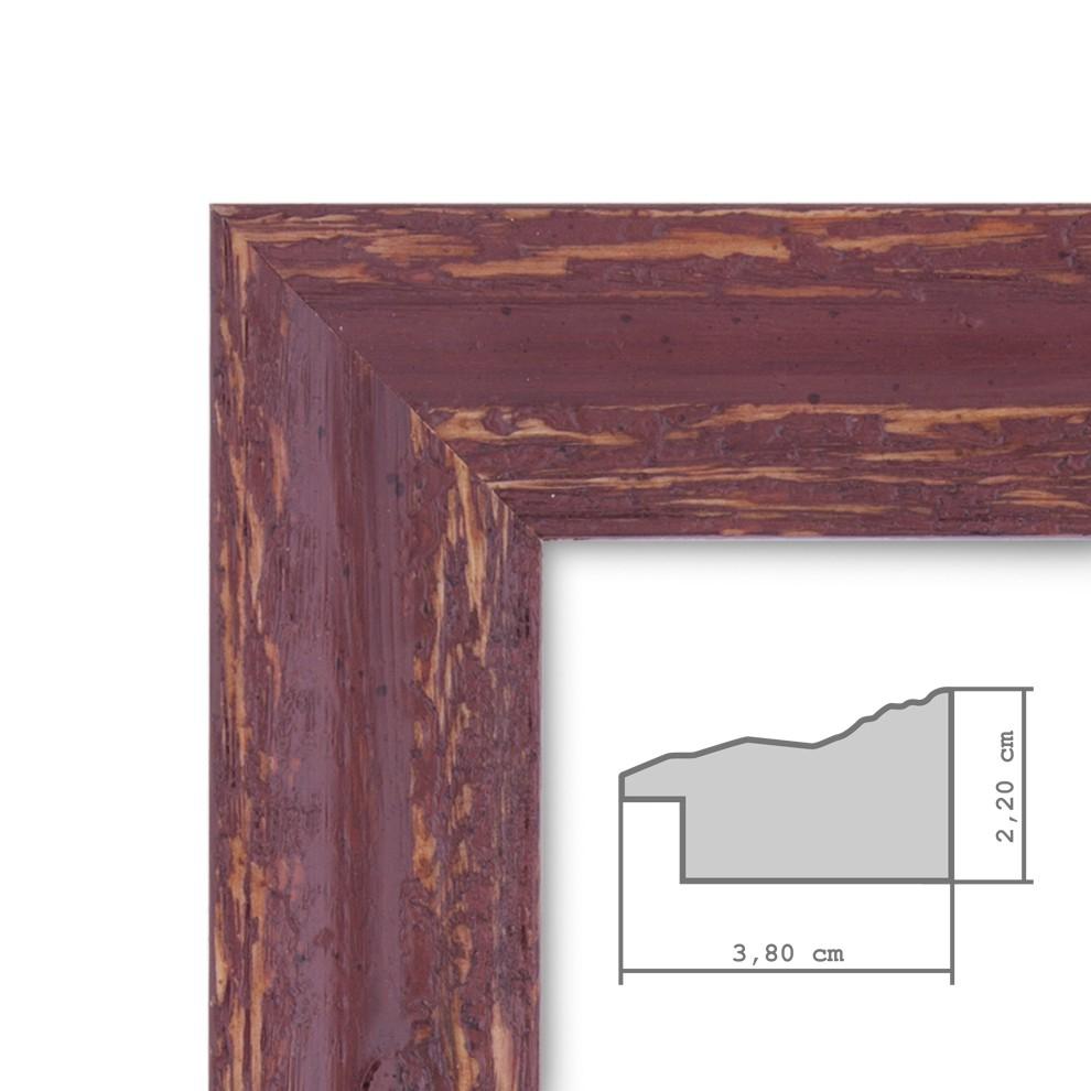 bilderrahmen 30x30 cm holz rot braun shabby chic vintage. Black Bedroom Furniture Sets. Home Design Ideas