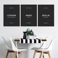 3er Set Schwarz-Weiss Poster No.48 30x40 cm London Paris Berlin – Bild 4