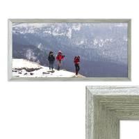 Panorama-Bilderrahmen Vintage Shabby-Chic Grau 30x60 cm Massivholz mit Glasscheibe und Zubehör / Fotorahmen / Portraitrahmen  – Bild 1
