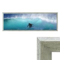 Panorama-Vintage Holzrahmen 30x90 cm Grau mit Acrylglas