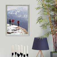 Vintage Bilderrahmen Shabby-Chic Grau 40x50 cm Massivholz mit Glasscheibe und Zubehör / Fotorahmen / Portraitrahmen  – Bild 2