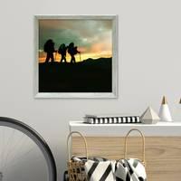 Vintage Bilderrahmen Shabby-Chic Grau 50x50 cm Massivholz mit Glasscheibe und Zubehör / Fotorahmen / Portraitrahmen  – Bild 2
