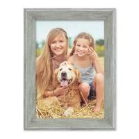 3er Set Vintage Bilderrahmen Shabby-Chic Grau 10x15 cm Massivholz mit Glasscheibe und Zubehör / Fotorahmen / Portraitrahmen  – Bild 6