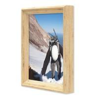 Vintage Bilderrahmen Shabby-Chic Eiche 15x20 cm Massivholz mit Glasscheibe und Zubehör / Fotorahmen / Portraitrahmen  – Bild 3