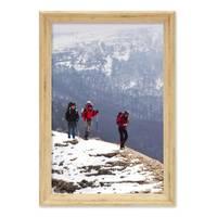 Vintage Bilderrahmen Shabby-Chic Eiche 21x30 cm / DIN A4 Massivholz mit Glasscheibe und Zubehör / Fotorahmen / Portraitrahmen  – Bild 6