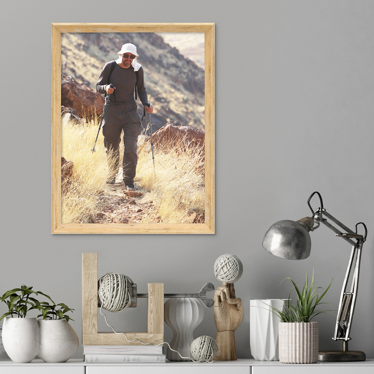 vintage bilderrahmen shabby chic eiche 30x42 cm din a3 massivholz mit glasscheibe und zubeh r. Black Bedroom Furniture Sets. Home Design Ideas