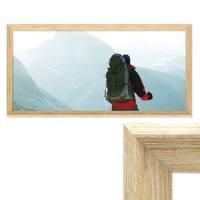Panorama-Bilderrahmen Vintage Shabby-Chic Eiche 30x60 cm Massivholz mit Glasscheibe und Zubehör / Fotorahmen / Portraitrahmen  – Bild 1