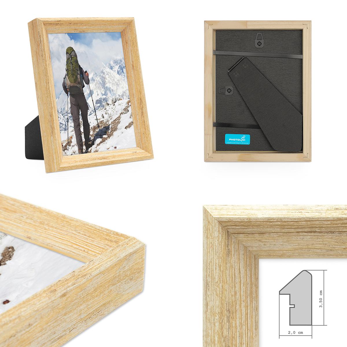 2er set vintage bilderrahmen shabby chic eiche 10x15 cm massivholz mit glasscheibe und zubeh r. Black Bedroom Furniture Sets. Home Design Ideas
