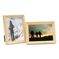 2er Set Vintage Bilderrahmen Shabby-Chic Eiche 15x20 cm Massivholz mit Glasscheibe und Zubehör / Fotorahmen / Portraitrahmen  – Bild 1