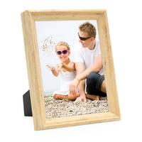 3er Set Vintage Bilderrahmen Shabby-Chic Eiche 18x24 cm Massivholz mit Glasscheibe und Zubehör / Fotorahmen / Portraitrahmen  – Bild 3