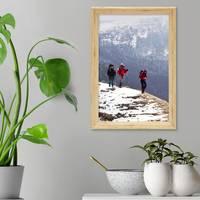3er Set Vintage Bilderrahmen Shabby-Chic Eiche 21x30 cm / DIN A4 Massivholz mit Glasscheibe und Zubehör / Fotorahmen / Portraitrahmen  – Bild 2