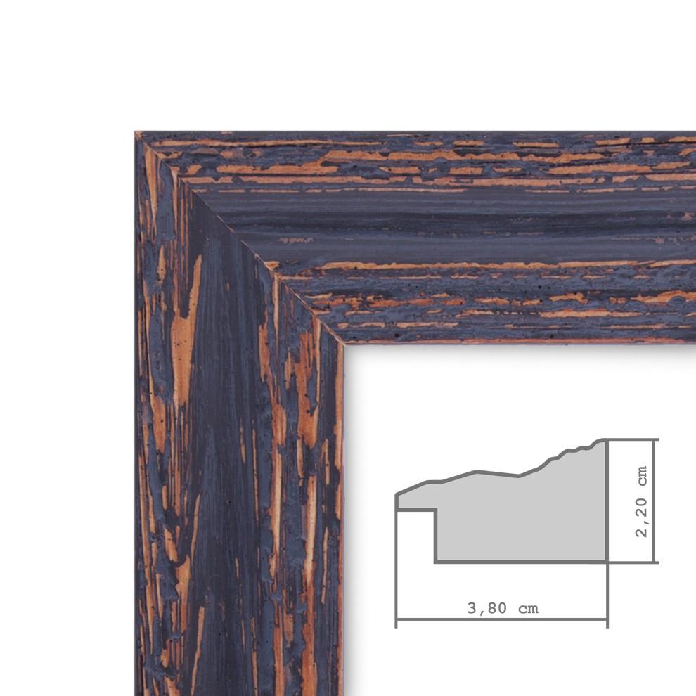 Vintage Bilderrahmen 50x60 Cm Holz Dunkelbraun Shabby Chic