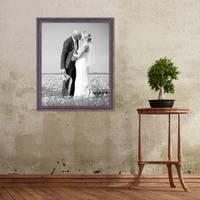 Vintage Bilderrahmen 50x60 cm Holz Dunkelbraun Shabby-Chic Massivholz mit Glasscheibe und Zubehör / Fotorahmen / Nostalgierahmen  – Bild 2