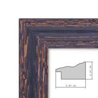 Vintage Bilderrahmen 50x70 cm Holz Dunkelbraun Shabby-Chic Massivholz m. Acrylglas inkl. Zubehör / Fotorahmen / Nostalgierahmen  – Bild 3