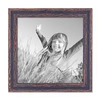Vintage Bilderrahmen 30x30 cm Holz Dunkelbraun Shabby-Chic Massivholz mit Glasscheibe und Zubehör / Fotorahmen / Nostalgierahmen  – Bild 4