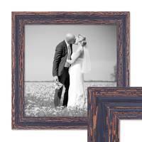 Vintage Bilderrahmen 30x30 cm Holz Dunkelbraun Shabby-Chic Massivholz mit Glasscheibe und Zubehör / Fotorahmen / Nostalgierahmen  – Bild 1
