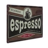 Blechschild Vintage Classic Espresso 20x30 cm Küchenschild Metallschild Kaffee-Bild