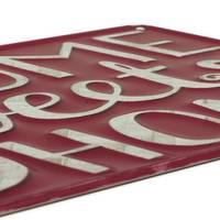 Blechschild Home 20x30 cm Metallschild Spruch Willkommensschild Dekoschild – Bild 4