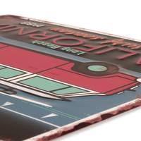 Blechschild Bulli California Retro 30x40 cm Metallschild Spruch Nostalgieschild Maritim – Bild 3
