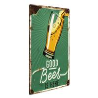 Blechschild Good Beer 30x40 cm