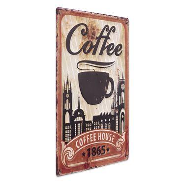 Blechschild Coffee House 30x40 cm Vintage Küchenschild Metallschild Kaffee-Bild