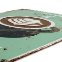 Blechschild Coffee Cup 30x40 cm Vintage Küchenschild Metallschild Kaffee-Bild – Bild 3