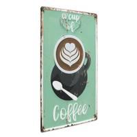 Blechschild Coffee Cup 30x40 cm Vintage Küchenschild Metallschild Kaffee-Bild
