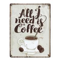Blechschild Vintage Coffee 30x40 cm Küchenschild Metallschild Kaffee-Bild – Bild 2