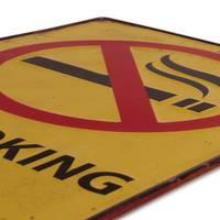 Blechschild No Smoking 30x40 cm Verbotsschild Rauchen Verboten Metallschild – Bild 3