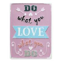 Blechschild Do what you Love 30x40 cm Vintage Metallschild Spruch Typografie – Bild 2