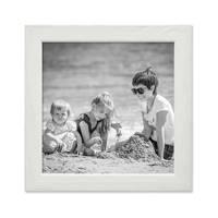 Bilderrahmen Weiss 15x15 cm Massivholz mit Acrylglasscheibe / Fotorahmen / Wechselrahmen – Bild 1