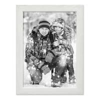 Bilderrahmen Weiss 15x20 cm Massivholz mit Acrylglasscheibe / Fotorahmen / Wechselrahmen – Bild 3