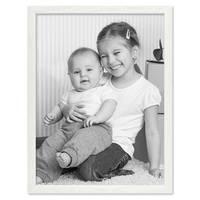 Bilderrahmen Weiss 30x45 cm Massivholz mit Acrylglasscheibe / Fotorahmen / Wechselrahmen – Bild 4