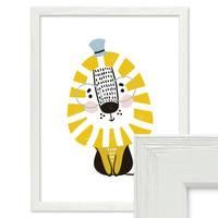 Bilderrahmen Weiss mit Acrylglas 30x45 cm