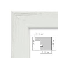Bilderrahmen Weiss 40x40 cm Massivholz mit Acrylglasscheibe / Fotorahmen / Wechselrahmen – Bild 2