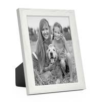 3er Set Bilderrahmen Weiss 10x15 cm Massivholz mit Acrylglasscheibe / Fotorahmen / Wechselrahmen – Bild 3