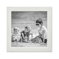 3er Set Bilderrahmen Weiss 15x15 cm Massivholz mit Acrylglasscheibe / Fotorahmen / Wechselrahmen – Bild 3