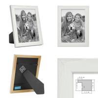 3er Set Bilderrahmen Weiss 15x20 cm Massivholz mit Acrylglasscheibe / Fotorahmen / Wechselrahmen – Bild 3