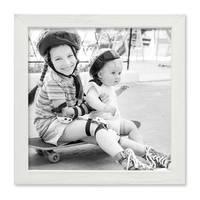 3er Set Bilderrahmen Weiss 20x20 cm Massivholz mit Acrylglasscheibe / Fotorahmen / Wechselrahmen – Bild 5