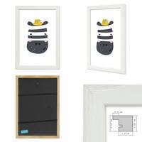 3er Set Bilderrahmen Weiss 20x30 cm Massivholz mit Acrylglasscheibe / Fotorahmen / Wechselrahmen – Bild 3