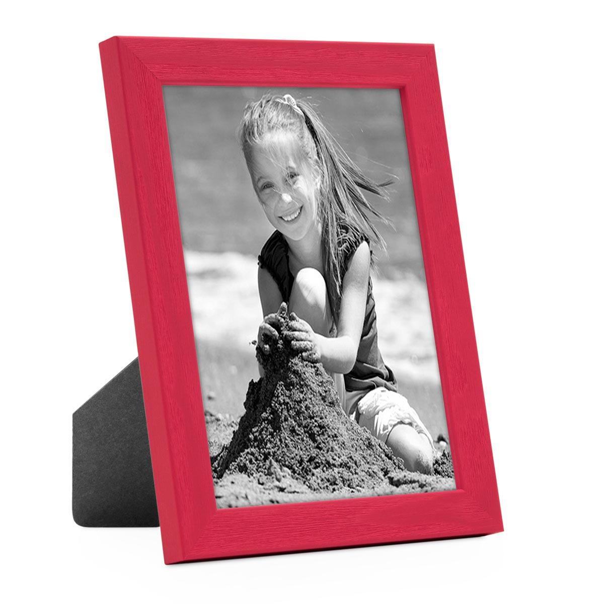 Bilderrahmen Rot Mit Acrylglas 10x15 Cm