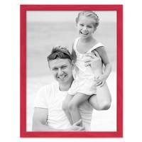 Bilderrahmen Rot 30x42 cm / DIN A3 Massivholz mit Acrylglasscheibe / Fotorahmen / Wechselrahmen – Bild 3
