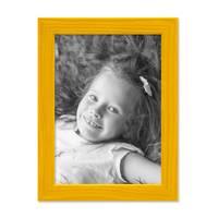 3er Set Bilderrahmen Gelb 13x18 cm Massivholz mit Acrylglasscheibe / Fotorahmen / Wechselrahmen – Bild 5