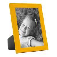 3er Set Bilderrahmen Gelb 13x18 cm Massivholz mit Acrylglasscheibe / Fotorahmen / Wechselrahmen – Bild 3