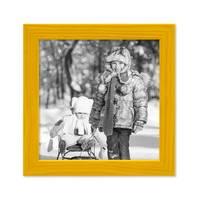 3er Set Bilderrahmen Gelb 15x15 cm Massivholz mit Acrylglasscheibe / Fotorahmen / Wechselrahmen – Bild 3
