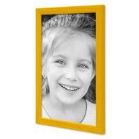 3er Set Bilderrahmen Gelb 20x30 cm Massivholz mit Acrylglasscheibe / Fotorahmen / Wechselrahmen – Bild 4